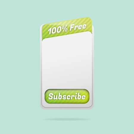 subscription: Free Subscription Template Illustration
