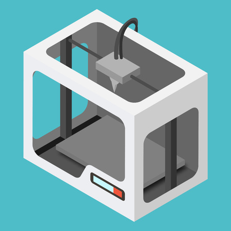 printing icon: Isometric 3D Printer
