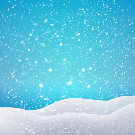 Sneeuwval en drifts. Vector illustratie concept voor uw kunstwerk, posters, flyers, wenskaarten.