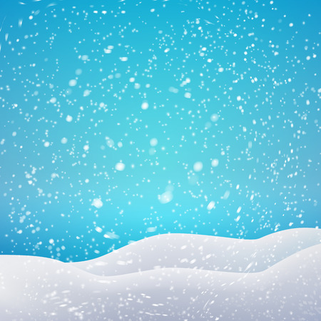 snow drift: Snowfall and drifts. Vector illustration concept for your artwork, posters, flyers, greeting cards.