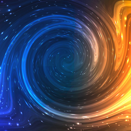 Colorful Shining Swirl Like Flow of Water and Light Fire Background. Vector Illustration for artwork, party flyers, posters, banners.