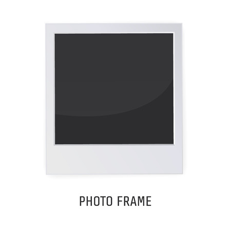Retro Photo Frame Isolated on a White background. Vector illustration for your artwork, posters, flyers. Ilustração