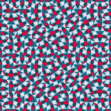 Triangles mosaic geometric seamless pattern. 90s style. Vector illustration for your artwork, banners, posters, flyers. Vector