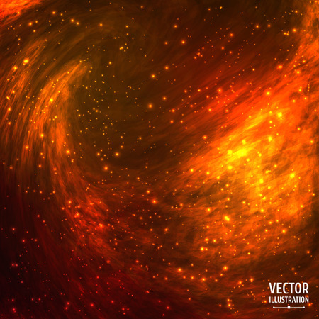 Colorful Cosmic Space Galaxy Background with Light, Shining Stars, Stardust and Nebula. Vector Illustration for artwork, party flyers, posters, banners. Illustration