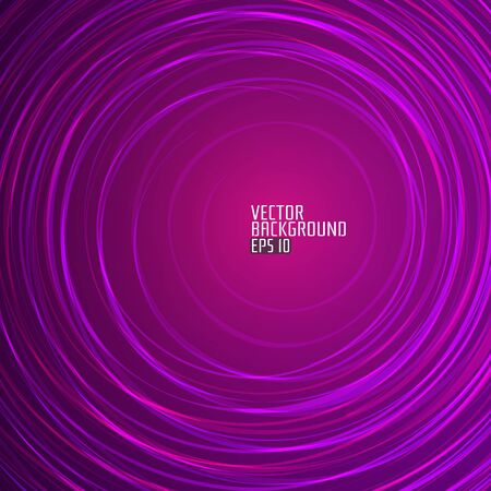 Abstract Purple Round Background. Vector Background for artwork, party flyers, posters, banners