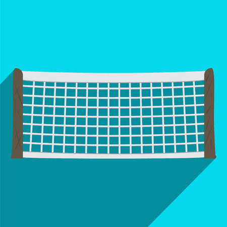 Tennis Net in Flat Style. Vector Illustration.