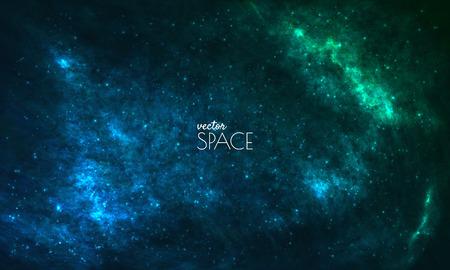 Spazio Galaxy sfondo con la nebulosa, stardust e splendente stelle luminose. illustrazione vettoriale per la progettazione, opere d'arte