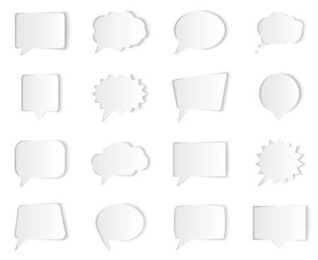 Vector speech bubbles isolated on white background. Illustration for presentations, brochures, artworks, websites, sale or discount offers