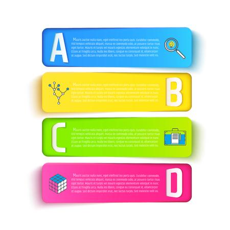 여러 가지 빛깔 디자인 세트는 흰 배경에 고립. 프리젠 테이션, 브로셔, 인포 그래픽 그림 일러스트