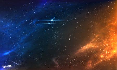 스타 클러스터 밝은 밤 하늘입니다. 삽화
