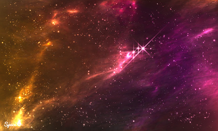 Colorful Starry Outer Space background. illustration for party , posters, print or other design. 일러스트