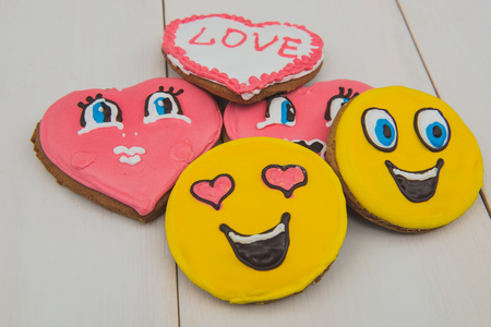 Cookies heart on Valentines Day