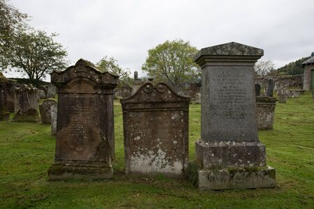 A trio of peaceful gravestones in Scotland