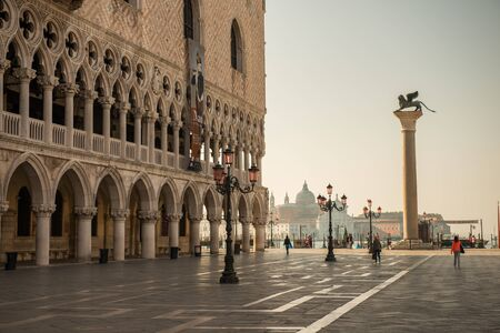 an enchanting piazza in venice italy