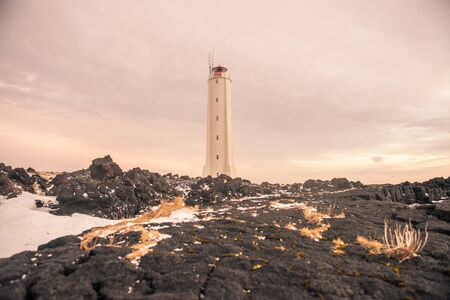 A lone lighthouse in Iceland