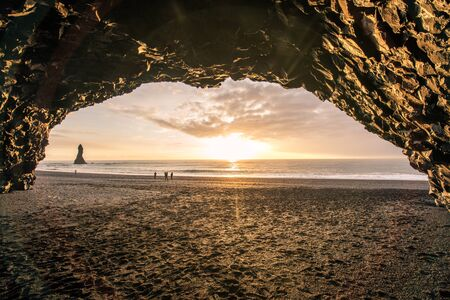 A cave on the beach of Iceland