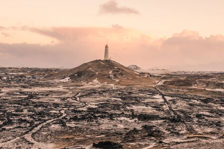 A lonely lighthouse in Iceland