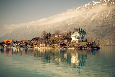 lake brienz in switzerland