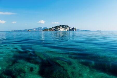 Beautiful Marathonisi Island Zakynthos Stock Photo
