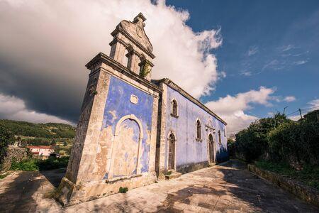 a blue church in volimes zakynthos