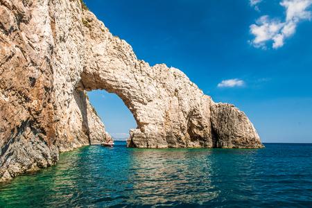 famous blue caves in agios nikolaos zakynthos