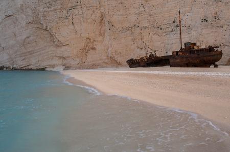 the shipwreck at navagio zakynthos