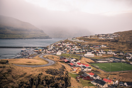 the town of eidi in the faroe islands