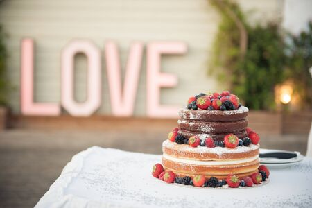 A delicious looking wedding cake Stock Photo