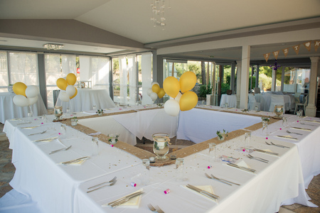 A stunning summer wedding reception
