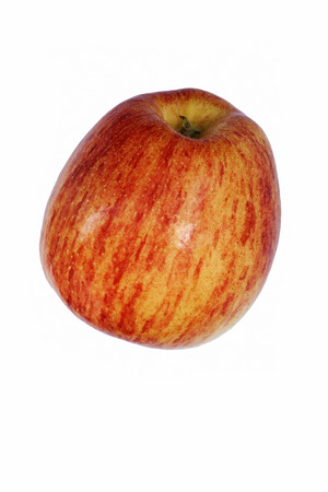 cameo: Cameo apple (Malus domestica Cameo). Hybrid between Red Delicious apple and Golden Delicious apple probably. Image of apple isolated on white background Stock Photo