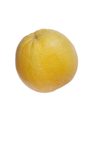 citrus reticulata: Valencia orange (Citrus x sinensis Valencia). Hybrid between Citrus maxima (Pomelo) and Citrus reticulata (Mandarin). Image of single fruit isolated on white background Stock Photo