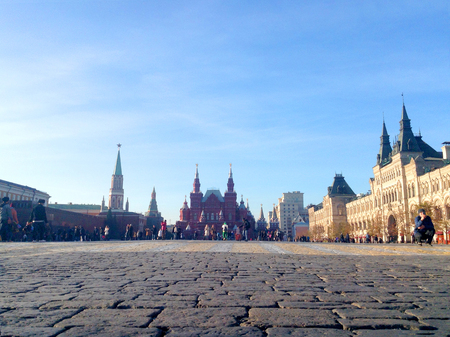 Panorama of Red Square in Moscow, Russia Editorial