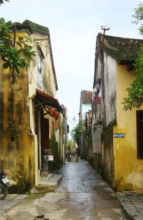 rikscha: Hoi Eine alte Stadt. touristisches Ziel von Asien. Hoian ist von der UNESCO als Weltkulturerbe anerkannt. Editorial