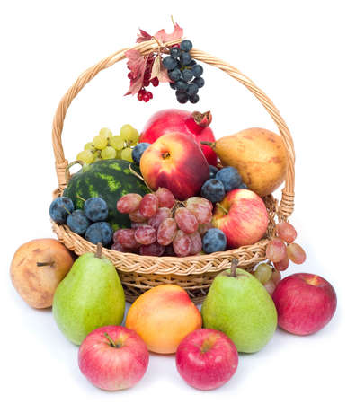 glut: lots of fresh and ripe fruits in the basket