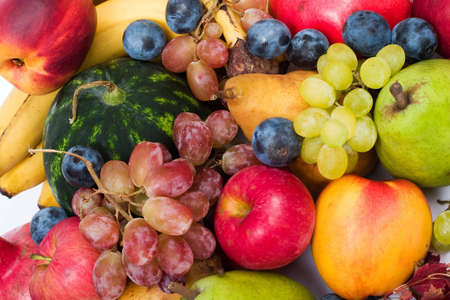 glut: lots of fresh and ripe fruits