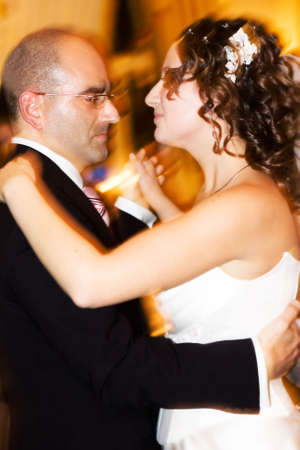 Beautiful couple - bride and groom - dancing. Iso 800! Reporting shoot photo