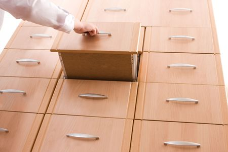 Card catalog drawer in a library Stock Photo - 3092391