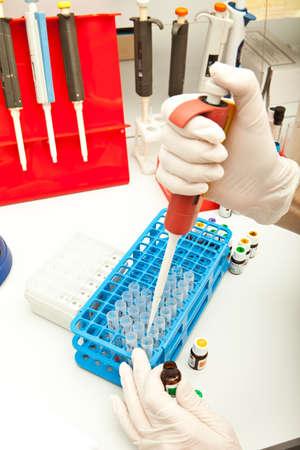 pipeta: Laboratorio de ADN investigación