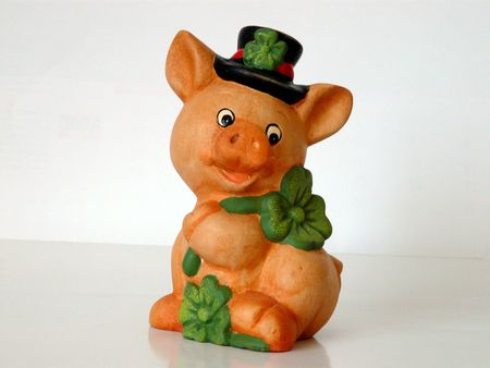 Piggy brings you luck Stock Photo - 3278792