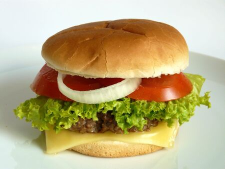 A close up view of a Burger Stock Photo - 3345426