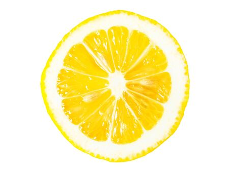 Lemon of cuts in half. Slice, circle photo