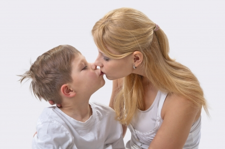 Portrait of happy mother and son Stock Photo - 11950340