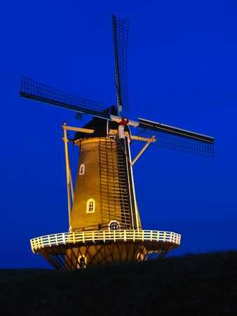 Windmill quiet at night. Holland.