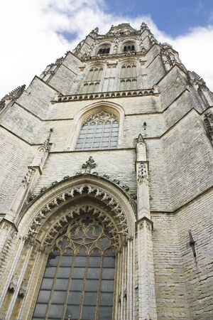 gabled: Church of Breda in the province of Brabant, Netherlands
