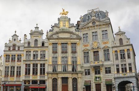 Brussels grand place building, Belgium  . Golden Sculpture Stock Photo - 13289790