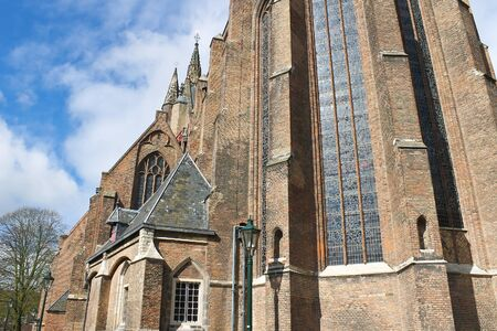 delft: Old church in  Delft .  Holland