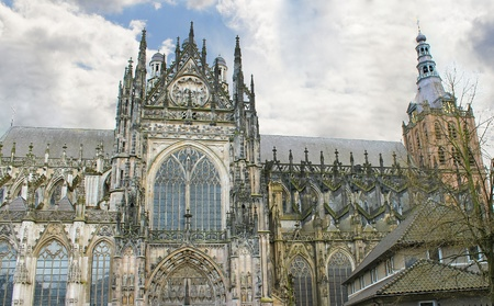den: Cathedral in Den Bosch. Netherlands