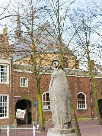 Statue of a girl (Geertruyt van Oosten). Delft. Netherlands Stock Photo - 13546515