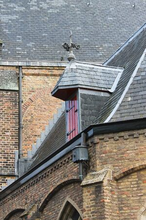 The roof of the old church. Delft. Netherlands photo