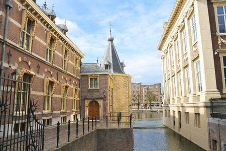 Binnenhof Palace in Den Haag,  Netherlands. Dutch Parliament buildings photo